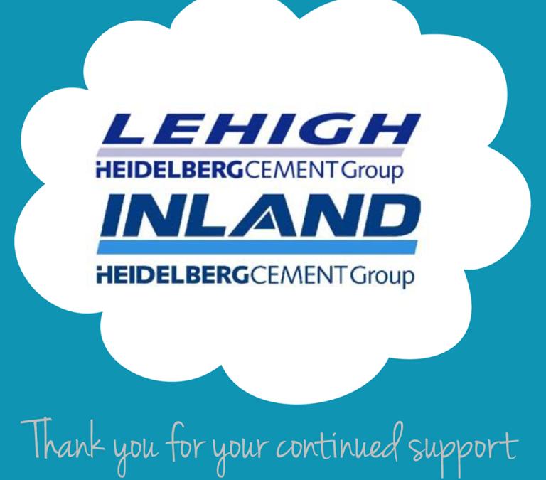 Thank you Lehigh Cement