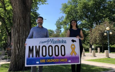 CURE CHILDHOOD CANCER MANITOBA LICENSE PLATE