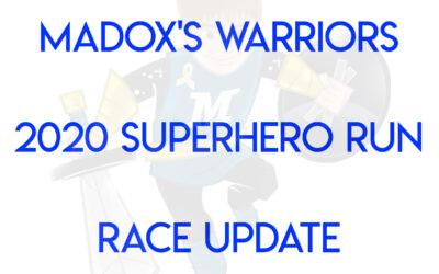 2020 SUPERHERO RUN IMPORTANT RACE ANNOUNCEMENT